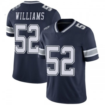 Youth Nike Dallas Cowboys Connor Williams Navy Team Color Vapor Untouchable Jersey - Limited