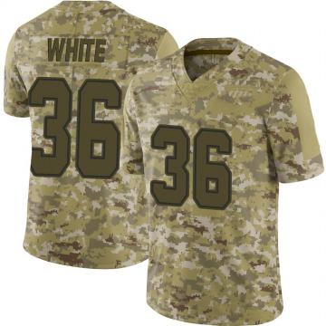 Youth Nike Dallas Cowboys D.J. White White Camo 2018 Salute to Service Jersey - Limited