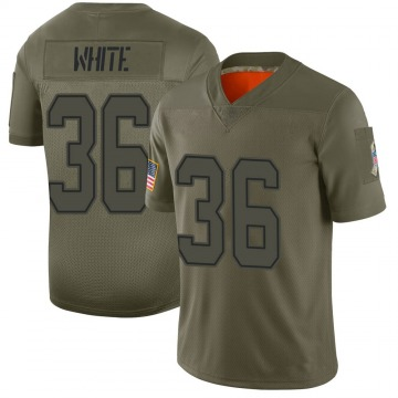 Youth Nike Dallas Cowboys D.J. White White Camo 2019 Salute to Service Jersey - Limited