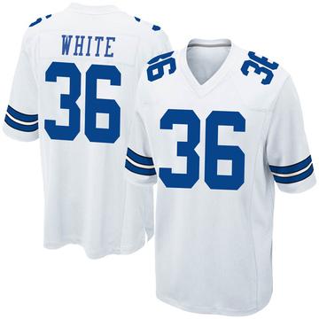Youth Nike Dallas Cowboys D.J. White White Jersey - Game
