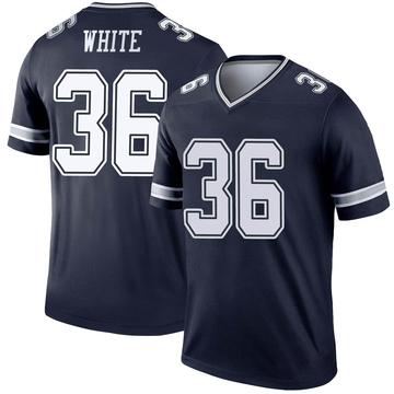 Youth Nike Dallas Cowboys D.J. White White Navy Jersey - Legend