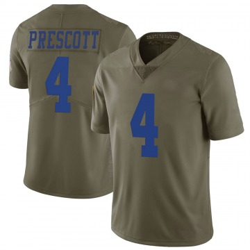 Youth Nike Dallas Cowboys Dak Prescott Green 2017 Salute to Service Jersey - Limited