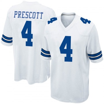 Youth Nike Dallas Cowboys Dak Prescott White Jersey - Game