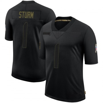 Youth Nike Dallas Cowboys Dalton Sturm Black 2020 Salute To Service Jersey - Limited