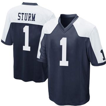 Youth Nike Dallas Cowboys Dalton Sturm Navy Blue Throwback Jersey - Game