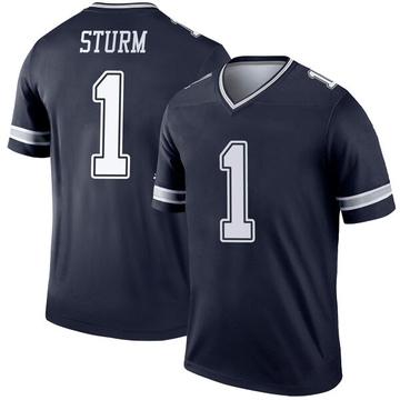 Youth Nike Dallas Cowboys Dalton Sturm Navy Jersey - Legend