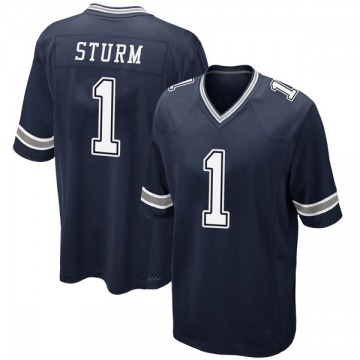 Youth Nike Dallas Cowboys Dalton Sturm Navy Team Color Jersey - Game