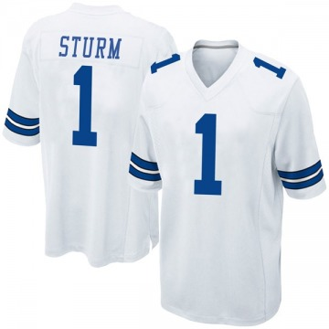 Youth Nike Dallas Cowboys Dalton Sturm White Jersey - Game