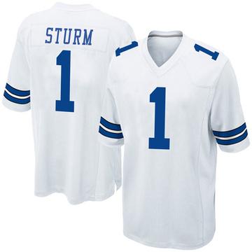 Youth Nike Dallas Cowboys Dalton Sturm White Jersey - Game