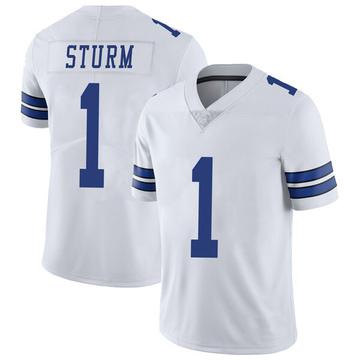 Youth Nike Dallas Cowboys Dalton Sturm White Vapor Untouchable Jersey - Limited