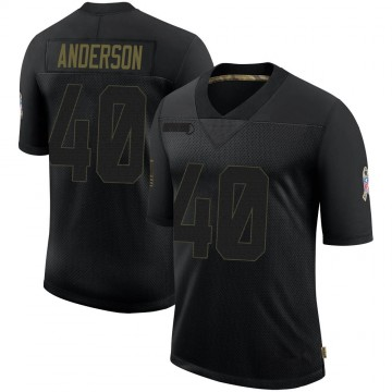 Youth Nike Dallas Cowboys Darius Anderson Black 2020 Salute To Service Jersey - Limited