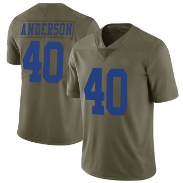 Youth Nike Dallas Cowboys Darius Anderson Green 2017 Salute to Service Jersey - Limited