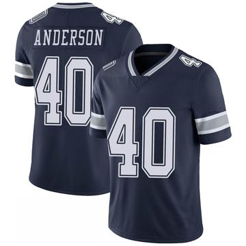 Youth Nike Dallas Cowboys Darius Anderson Navy 100th Vapor Jersey - Limited