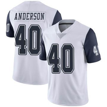 Youth Nike Dallas Cowboys Darius Anderson White Color Rush Vapor Untouchable Jersey - Limited