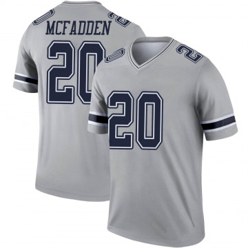 Youth Nike Dallas Cowboys Darren McFadden Gray Inverted Jersey - Legend
