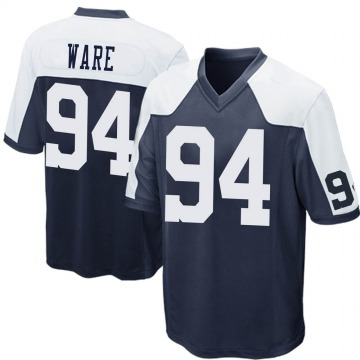 Youth Nike Dallas Cowboys DeMarcus Ware Navy Blue Throwback Jersey - Game