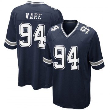 Youth Nike Dallas Cowboys DeMarcus Ware Navy Team Color Jersey - Game