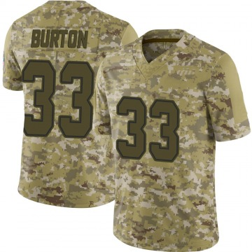 Youth Nike Dallas Cowboys Deante Burton Camo 2018 Salute to Service Jersey - Limited