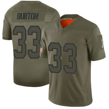 Youth Nike Dallas Cowboys Deante Burton Camo 2019 Salute to Service Jersey - Limited