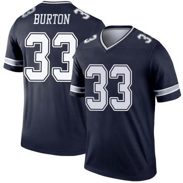 Youth Nike Dallas Cowboys Deante Burton Navy Jersey - Legend