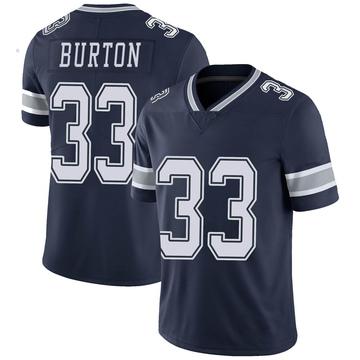 Youth Nike Dallas Cowboys Deante Burton Navy Team Color Vapor Untouchable Jersey - Limited