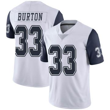 Youth Nike Dallas Cowboys Deante Burton White Color Rush Vapor Untouchable Jersey - Limited