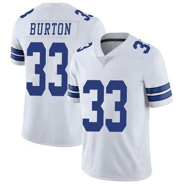 Youth Nike Dallas Cowboys Deante Burton White Vapor Untouchable Jersey - Limited