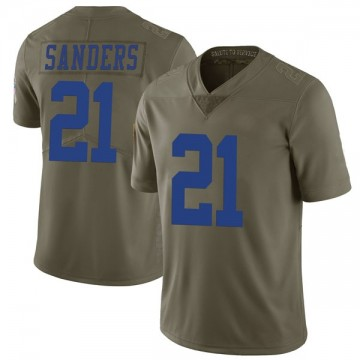 Youth Nike Dallas Cowboys Deion Sanders Green 2017 Salute to Service Jersey - Limited