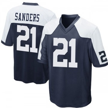 Youth Nike Dallas Cowboys Deion Sanders Navy Blue Throwback Jersey - Game