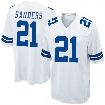 Youth Nike Dallas Cowboys Deion Sanders White Jersey - Game