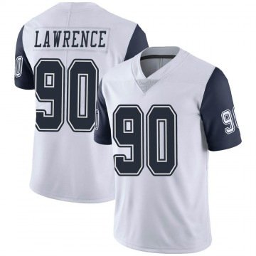Youth Nike Dallas Cowboys Demarcus Lawrence White Color Rush Vapor Untouchable Jersey - Limited