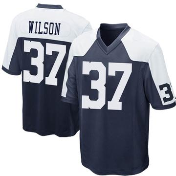 Youth Nike Dallas Cowboys Donovan Wilson Navy Blue Throwback Jersey - Game