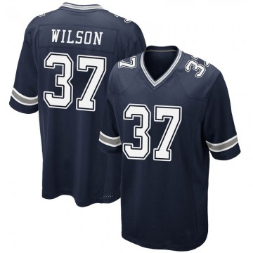 Youth Nike Dallas Cowboys Donovan Wilson Navy Team Color Jersey - Game