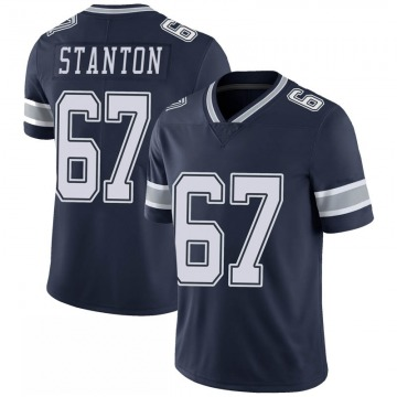 Youth Nike Dallas Cowboys Dustin Stanton Navy 100th Vapor Jersey - Limited