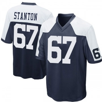 Youth Nike Dallas Cowboys Dustin Stanton Navy Blue Throwback Jersey - Game
