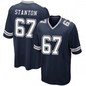 Youth Nike Dallas Cowboys Dustin Stanton Navy Team Color Jersey - Game