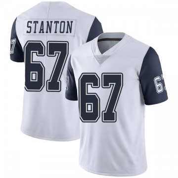 Youth Nike Dallas Cowboys Dustin Stanton White Color Rush Vapor Untouchable Jersey - Limited