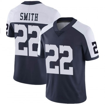 Youth Nike Dallas Cowboys Emmitt Smith Navy Alternate Vapor Untouchable Jersey - Limited