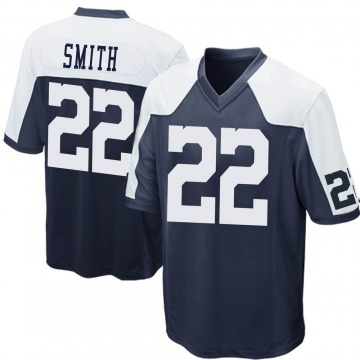Youth Nike Dallas Cowboys Emmitt Smith Navy Blue Throwback Jersey - Game