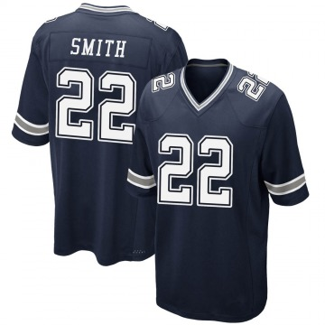 Youth Nike Dallas Cowboys Emmitt Smith Navy Team Color Jersey - Game