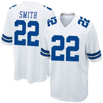 Youth Nike Dallas Cowboys Emmitt Smith White Jersey - Game