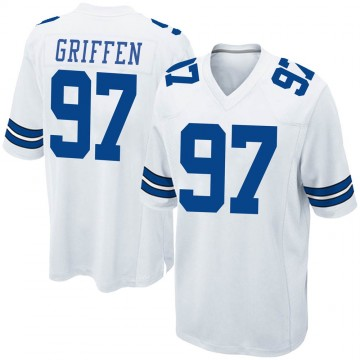 Youth Nike Dallas Cowboys Everson Griffen White Jersey - Game