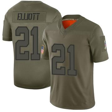 Youth Nike Dallas Cowboys Ezekiel Elliott Camo 2019 Salute to Service Jersey - Limited