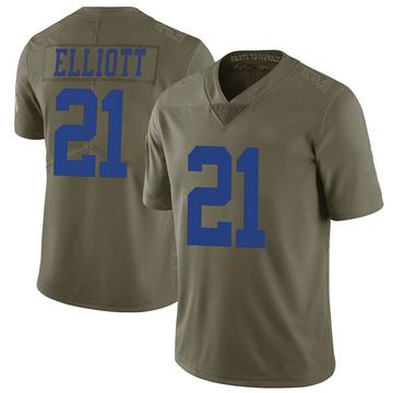 Youth Nike Dallas Cowboys Ezekiel Elliott Green 2017 Salute to Service Jersey - Limited