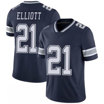 Youth Nike Dallas Cowboys Ezekiel Elliott Navy 100th Vapor Jersey - Limited