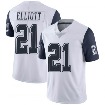 Youth Nike Dallas Cowboys Ezekiel Elliott White Color Rush Vapor Untouchable Jersey - Limited