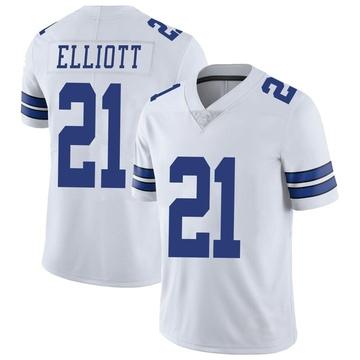 Youth Nike Dallas Cowboys Ezekiel Elliott White Vapor Untouchable Jersey - Limited