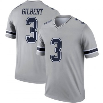 Youth Nike Dallas Cowboys Garrett Gilbert Gray Inverted Jersey - Legend