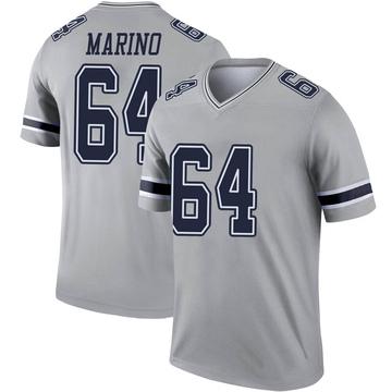 Youth Nike Dallas Cowboys Garrett Marino Gray Inverted Jersey - Legend