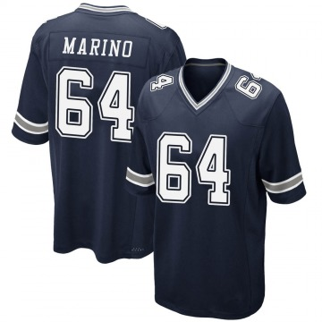 Youth Nike Dallas Cowboys Garrett Marino Navy Team Color Jersey - Game